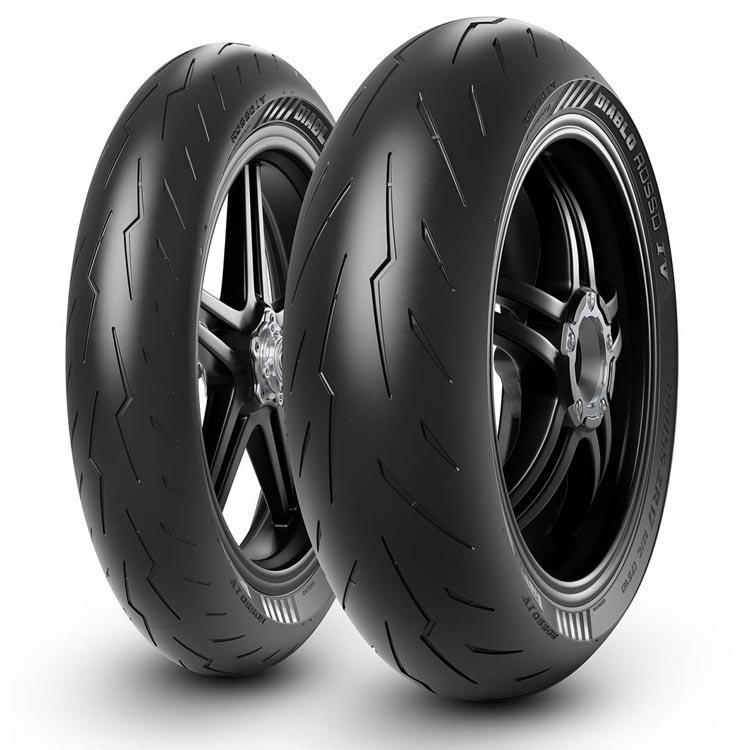 Pirelli diablo rosso 4 däck mc